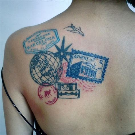 passport st tattoo 38 more travel related tattoos from backpackers