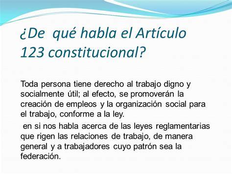 articulo de la constitucion que habla de los derechos normatividad bryan gerardo vela puente salud laboral grupo