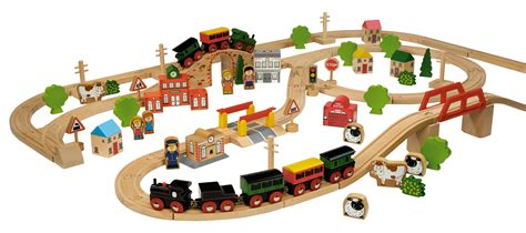 Train Set And Table For Toddlers - john crane wooden train set 100 pcs box