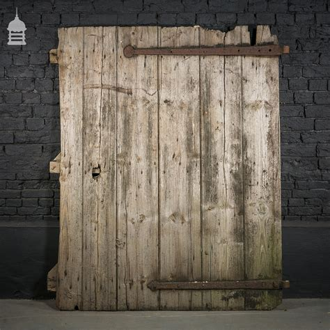 Pine Barn Door Rustic Pine Barn Door With Original Hinges