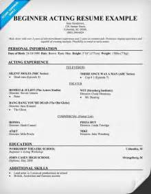 Job Resume Samples For Starters by Free Beginner Acting Resume Sample Resumecompanion Com