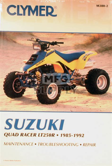 Suzuki Quadracer 250 Parts Cm380 85 92 Suzuki Lt250r Repair Maintenance Manual