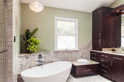 master bath remodel with small laundry t w ellis