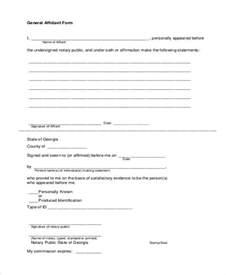 affidavit form template affidavit form template