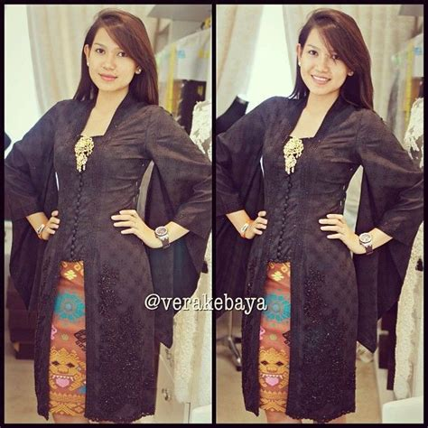 Kebaya Setelan Kutu Baru Floy Blackk 157 best images about baju kurung on lace kebaya and