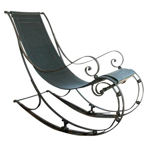 Wrought Iron Rocking Chair by Wrought Iron Rocking Chair At 1stdibs