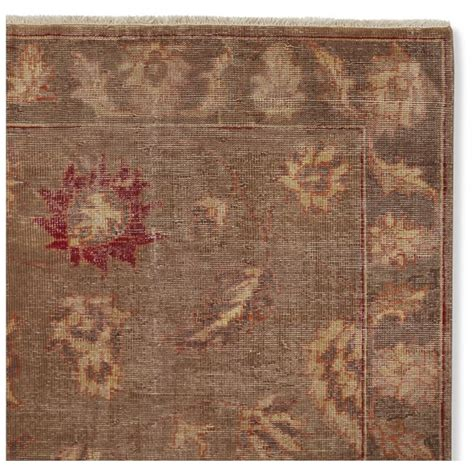 knotted autumn vines brown rug swatch williams sonoma