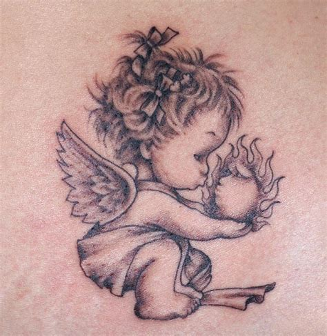 angel tattoo small pin small tattoos design on