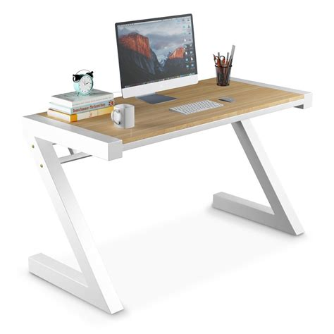 Z Shaped Desk Computer Desk Tribesigns Z Shaped Office Desk Workstation With Metal Legs Works As Writing