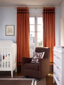 Orange Nursery Curtains Orange And Brown Curtains Contemporary Nursery Artistic Designs For Living
