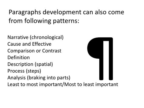 definition pattern paragraph paragraphs