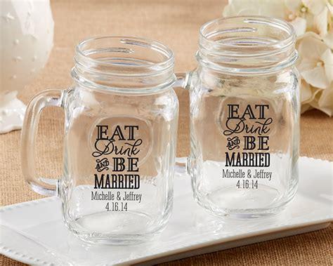 Souvenir Mug Jar 1 personalized eat drink be married 16 oz jar mug