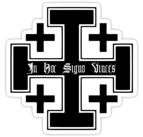 in hoc signo vinces tattoo in hoc signo vince s cross jerusalem cross black in