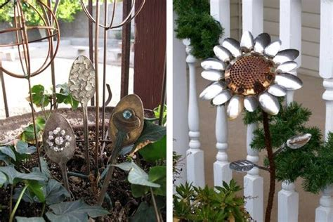 garden decoration recycled garden decorations made from junk diy recycled outdoor