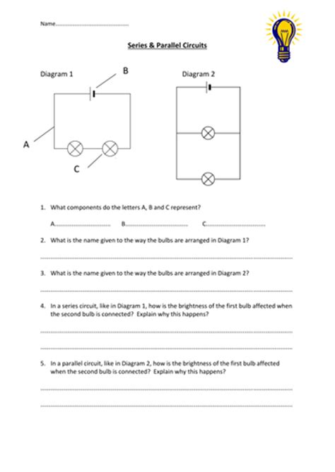 series parallel circuits worksheet by edp10ch teaching resources tes