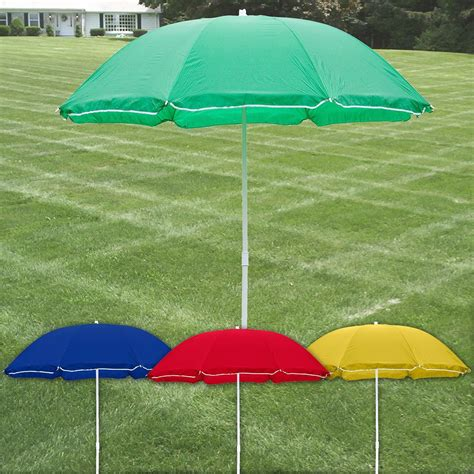 Patio Table Parasol Large Garden Patio 1 9m Parasol Patio Beech Umbrella Shade Table Protection Ebay