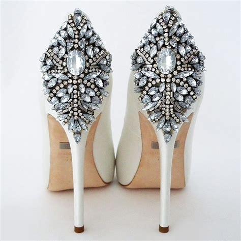 Designer White Wedding Shoes by Badgley Mischka Kiara White Wedding Shoes Glam Bridal Shoes