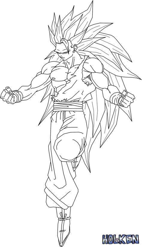 goku ssj3 coloring pencil coloring pages