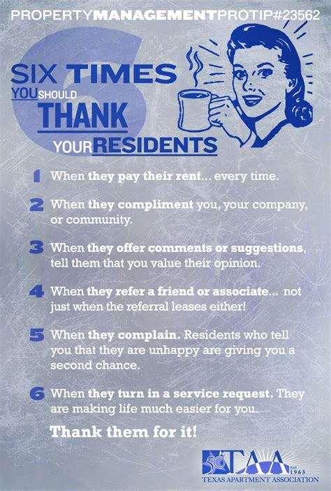 Apartment Leasing Tips And Tricks Six Times You Should Thank Your Residents Property