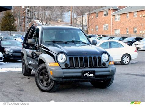 black jeep liberty 2005 2005 black clearcoat jeep liberty sport 4x4 100557287