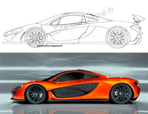 mclaren drawing how to draw mclaren p1