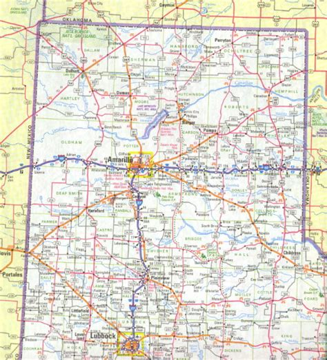 texas panhandle road map maps