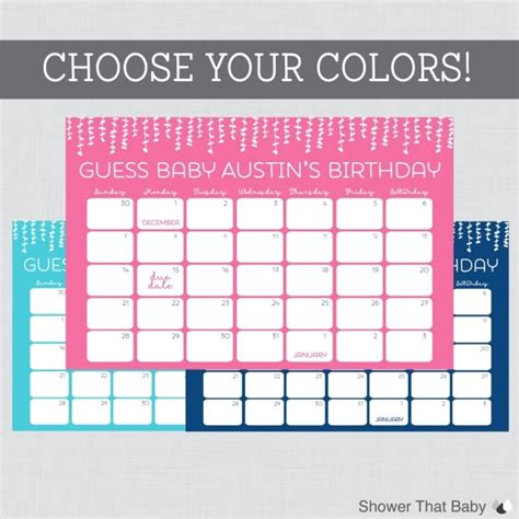 Guess Date july 2016 calendar printable baby due guessing calendar