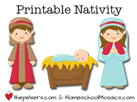 printable children s nativity story at homeschool mosaics free printable christmas nativity