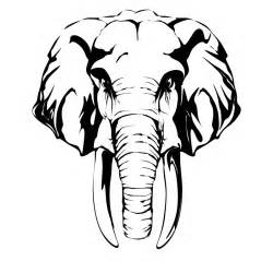 elephant head drawing clipart best