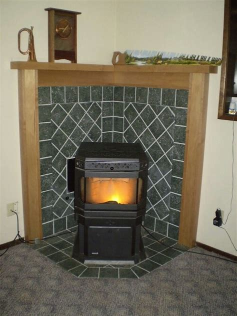 Stove Mantle Corner Mantel For Pellet Stove For The Home
