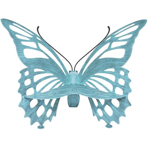 metal butterfly bench large butterfly bench verdi cricket forge outdoor