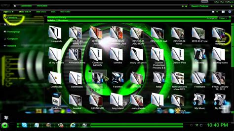 themes for windows 7 civil engineering green alienware theme for windows 7 youtube