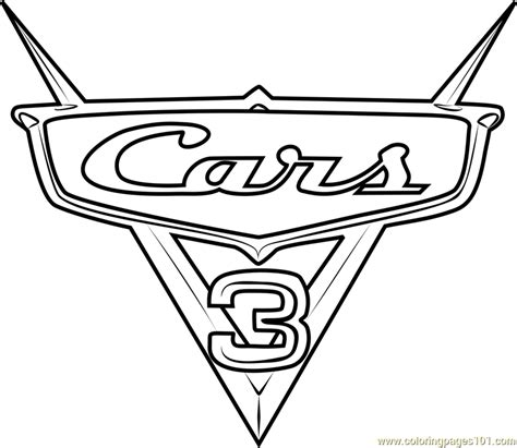 printable coloring pages cars 3 cars 3 logo from cars 3 coloring page free cars 3