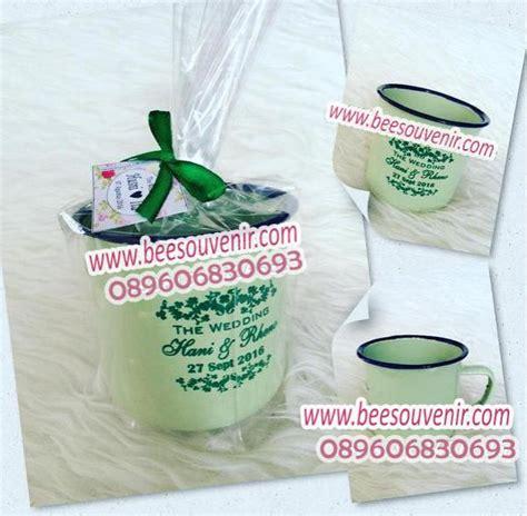 Souvenir Sisir Lubang cangkir enamel souvenir pernikahan jogja murah unik