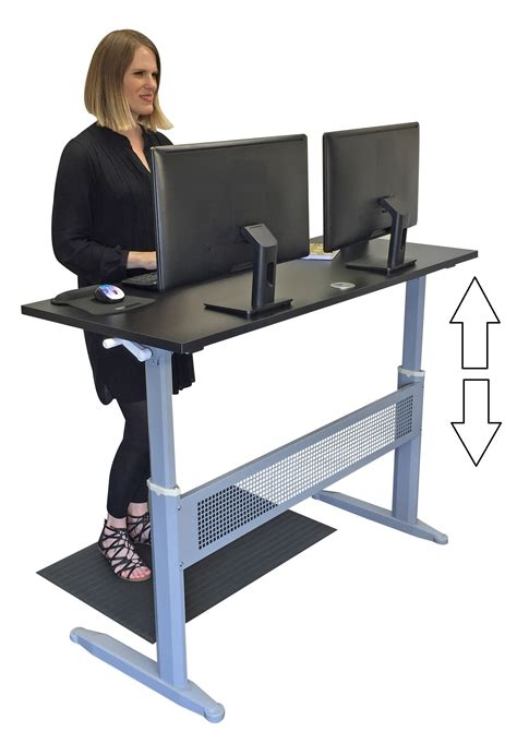 stand steady launches the transcendesk standing desk