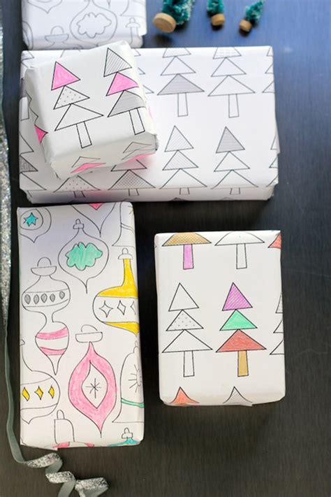 printable wrapping paper to color diy son propre papier cadeau les 20 meilleures id 233 es pour