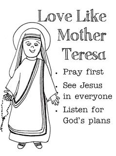 coloring page of mother teresa of calcutta coloring pages