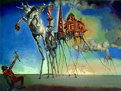 Painted Wall Designs by Salvador Dali Elephant From The Temptation Of Saint