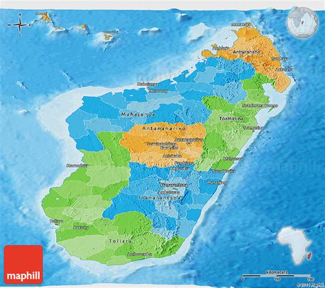 physical map of madagascar madagascar physical map with scale pictures