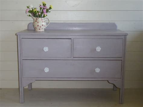 vintage hand painted chest of drawers antique edwardian vintage shabby chic grey lilac hand