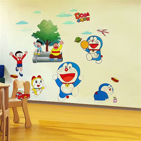 Wallsticker Doraemon 2 theme wall decor stickers for baby room quecasita