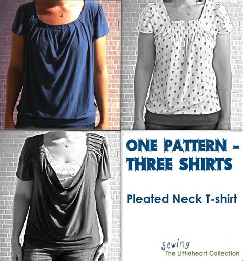 necktie t shirt pattern sewing the littleheart collection pleated neck t shirt