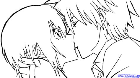 anime couples kissing sketches how to sketch an anime kiss step by step anime people