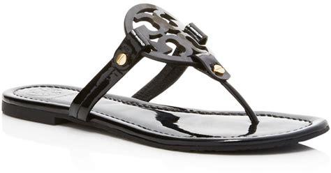 black miller sandal burch miller patent leather sandals in black lyst