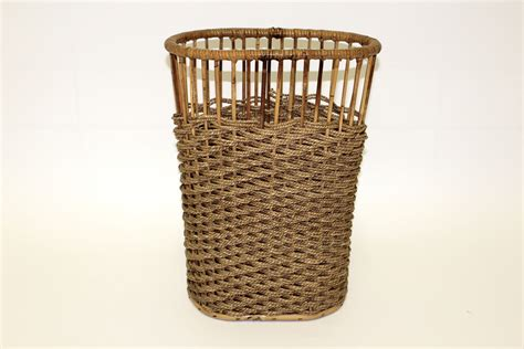 waste paper baskets rattan waste paper basket for sale at pamono