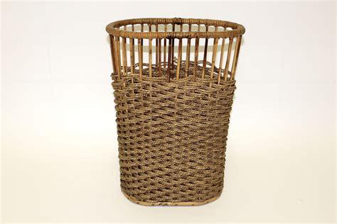 waste paper basket rattan waste paper basket for sale at pamono