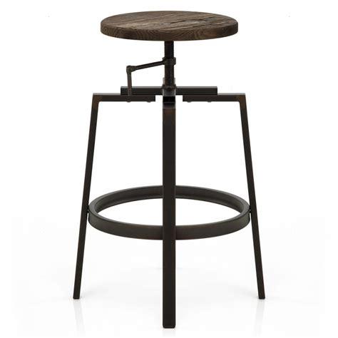 sgabelli in acciaio sgabello da bar industrial turner in legno ed acciaio scuro
