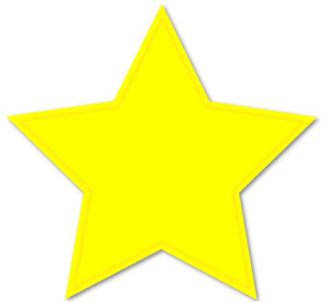 printable star yellow yellow star image clipart best