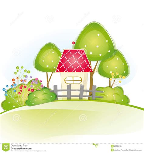 Row House Plans cute house royalty free stock images image 27389149
