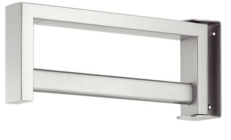 hafele wardrobe rail satin stainless steel 844 19 090